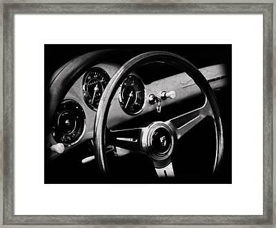 Porsche 356 Interior Framed Print by Mark Rogan