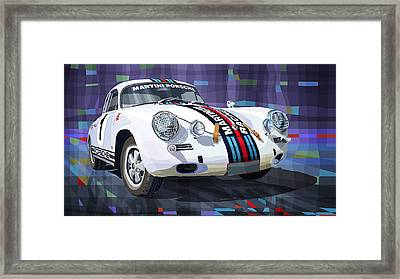 Porsche 356 Martini Racing Framed Print