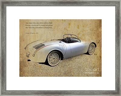 Porsche 550 Spyder 1953 Framed Print