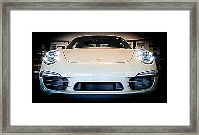 Porsche 911 50th Front With Led's Framed Print