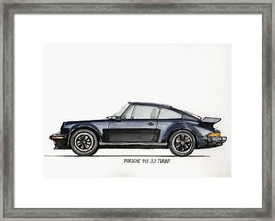 Porsche 911 930 Turbo Framed Print