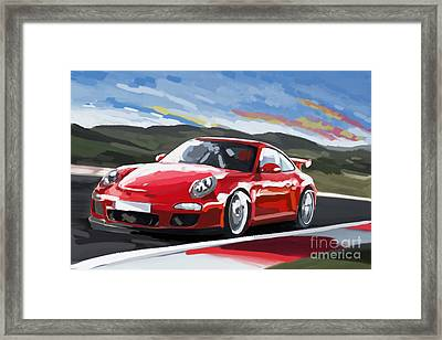 Porsche 911 Gt3 Impressionist Framed Print