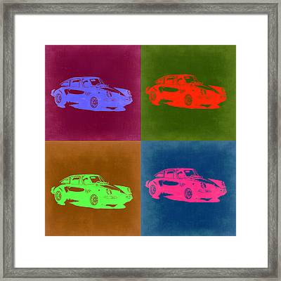 Porsche 911 Pop Art 3 Framed Print by Naxart Studio