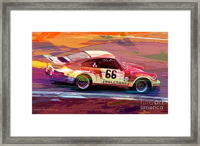 Porsche 911 Racing Framed Print by David Lloyd Glover