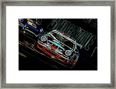 Porsche 911 Racing Framed Print