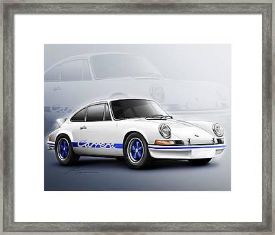 Porsche 911 Rs 1973 Framed Print