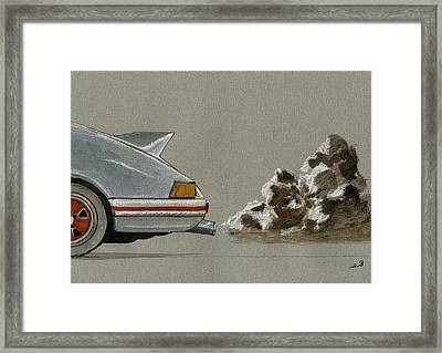 Porsche 911 Rs Classic 2 7 White Framed Print by Juan  Bosco