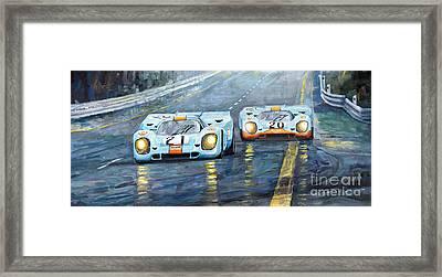 Porsche 917 K Gulf Spa Francorchamps 1971 Framed Print by Yuriy  Shevchuk