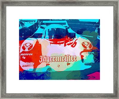 Porsche 956 Jagermeister Framed Print by Naxart Studio