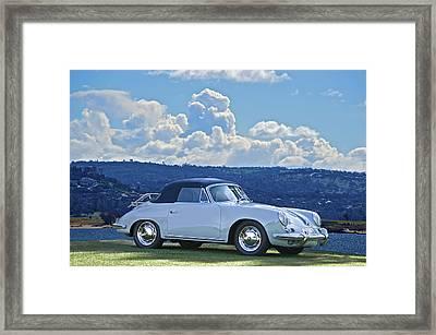 Porsche Cabriolet Framed Print