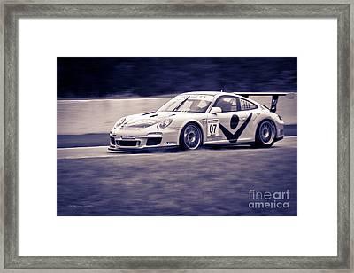 Porsche Carrera In Gt3 Cup Challenge 2014 Framed Print by Gordon Wood