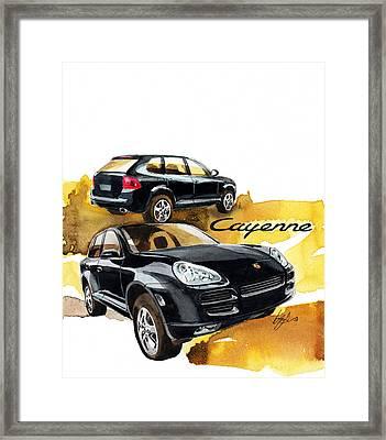 Porsche Cayenne Framed Print