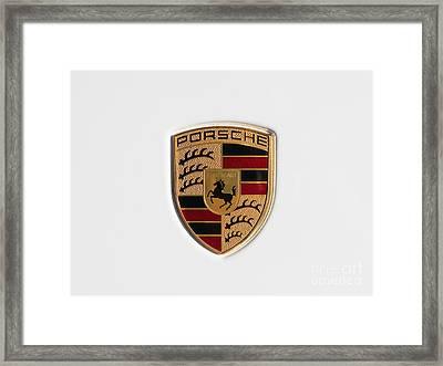 Porsche Emblem Dsc2483 Framed Print