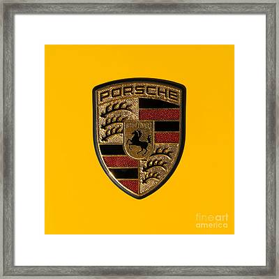 Porsche Emblem Dsc2484 Square Framed Print