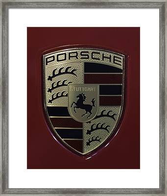 Porsche Emblem Framed Print