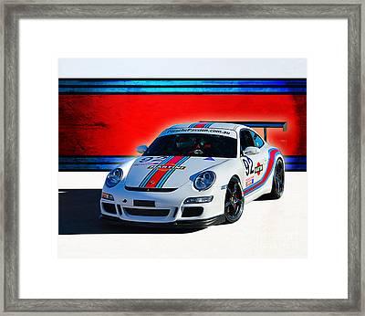 Porsche Gt3 Martini Framed Print