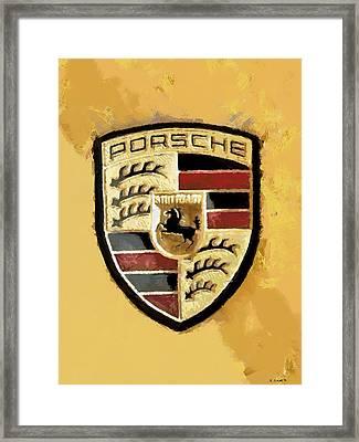 Porsche Heritage Framed Print by Kai Saarto
