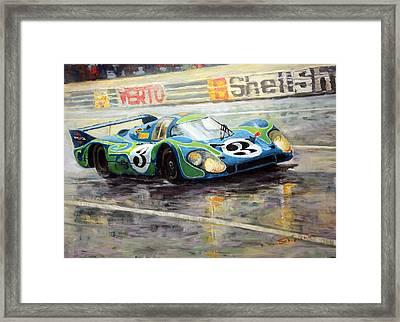 Porsche Psychedelic 917lh  1970  Le Mans 24  Framed Print