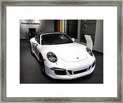 Porsche Showcased At The New York Auto Show Framed Print by E Osmanoglu