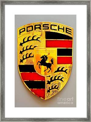 Porsche Stuttgart Framed Print by Andres LaBrada