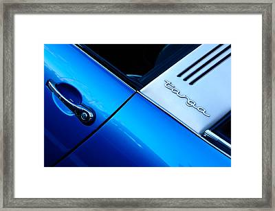 Porsche Targa Emblem Framed Print by Jill Reger