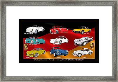 Porsche Times Nine Framed Print by Jack Pumphrey