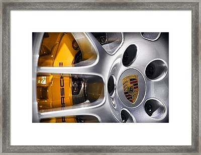 Porsche Wheel Framed Print by Gordon Dean II