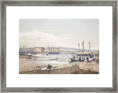 Port Adelaide From South Australia Framed Print by George French Angas