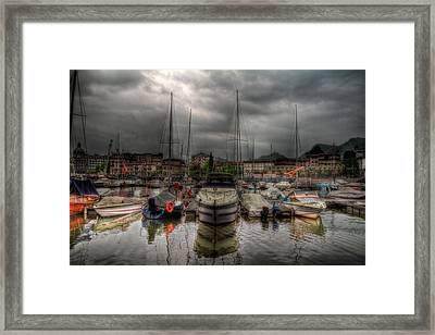 Port At Como Lake Framed Print