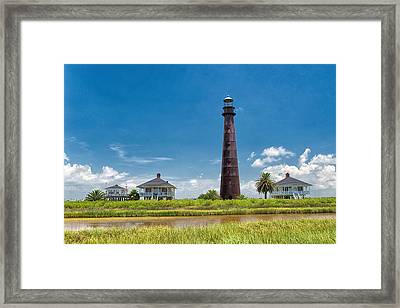 Port Bolivar Lighthouse Framed Print