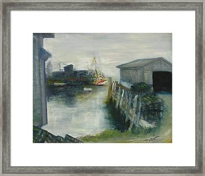Port Clyde In Fog Framed Print
