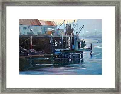 Port Clyde Maine Framed Print by Len Stomski