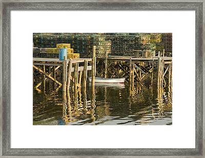 Port Clyde Maine Small Boat And Harbor Framed Print by Keith Webber Jr