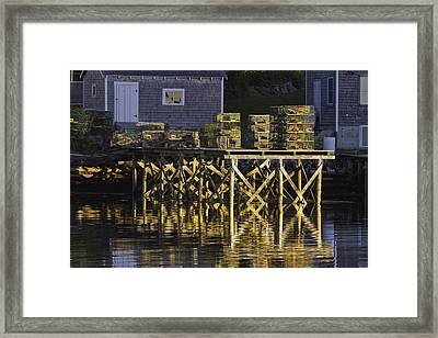 Port Clyde Pier On The Coast Of Maine Framed Print by Keith Webber Jr