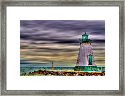 Framed Print featuring the photograph Port Dalhousie Lighthouse by Jerry Fornarotto