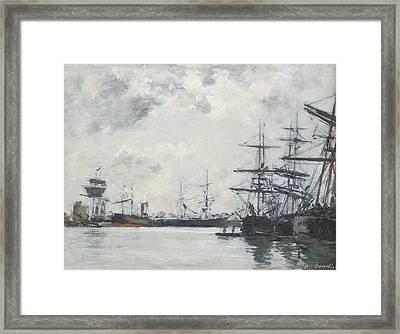 Port De Mer Un Bassin Framed Print by Celestial Images