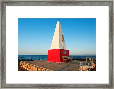 Framed Print featuring the photograph Port Denison Obelisk by Yew Kwang