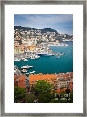 Port Du Nice Framed Print by Inge Johnsson