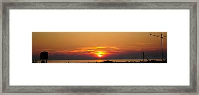 Port Elgin Sunset Framed Print by BandC  Photography