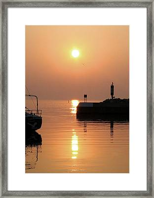Framed Print featuring the photograph Port Elgin by The Art Of Marilyn Ridoutt-Greene