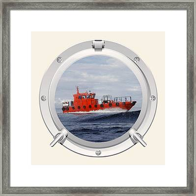 Framed Print featuring the photograph Port Hole View by Roy  McPeak