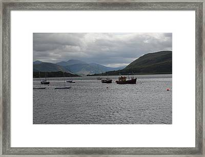 Framed Print featuring the photograph Port In Scotland by Karen Kersey