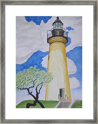 Port Isabel Lighthouse Framed Print