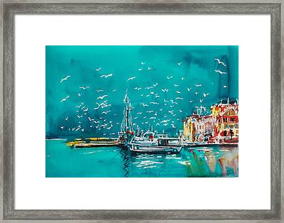Port Framed Print by Kovacs Anna Brigitta
