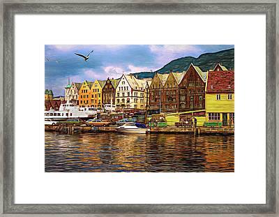 Port Life - Paint Framed Print