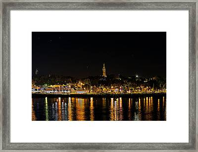 Port Lights Framed Print