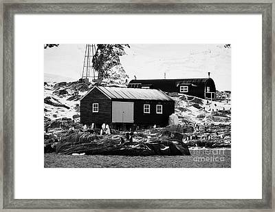 port lockroy station buildings including boatshed and nissen hut accommodation on goudier island Ant Framed Print