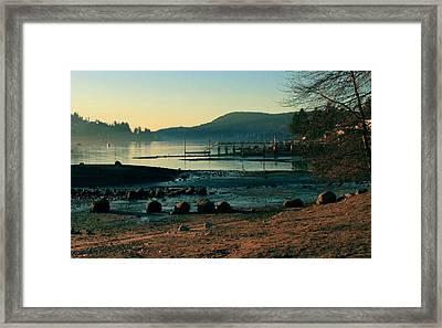 Rocky Point Inlet-vintage Framed Print by Stefan Kaertner