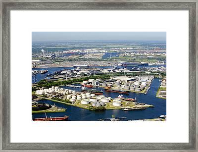 Port Of Amsterdam, Amsterdam Framed Print by Bram van de Biezen