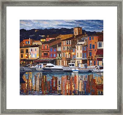 Port Of Cassis Framed Print by Lenore Crawford